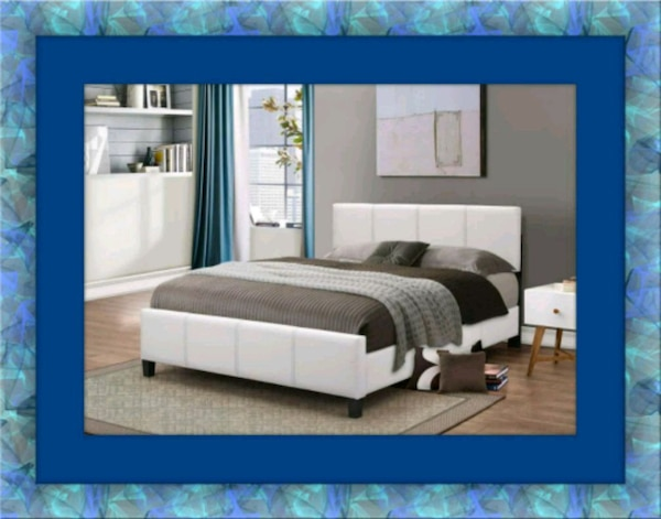 White platform bed mattress box delivery all size