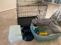 white and black pet cage Severn, 21144