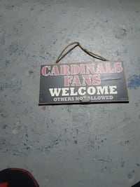 Cardinals Fans Welcome door signage