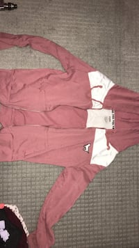 pink hoodie size small