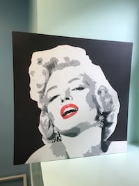 Large Marilyn Monroe image on Canvass. Very good condition, roughly 5 ft by 4 ft. Vancouver, V6Z 1P5