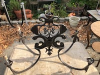 Wrought iron chandelier, approx. 4' x 2'  Vallejo, 94591