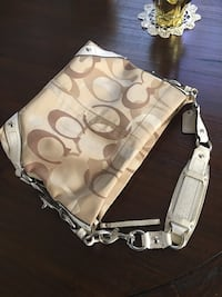 Coach purse light brown bag