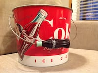 Coca Cola bucket, red and white