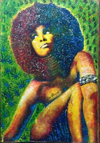 Hand painted retro woman