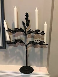 """Brand new decorative metal wall candle holder with glass inserts for candle. 18"""" tall. Asking $15 each obo. Calgary, T3C 1P2"""