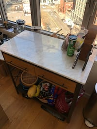 Real marble island counter from West Elm New York, 11101