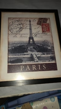 Black wooden framed painting of eiffel tower Fairborn, 45324
