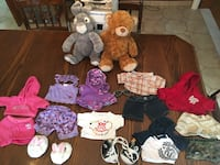 Build a bears with assorted clothing and accessories Grimsby