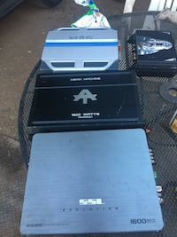 four several car amplifiers