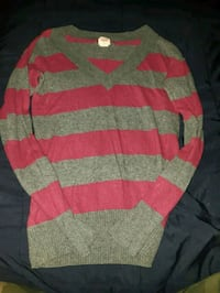 red and gray striped sweater Windsor, N8R 2E8