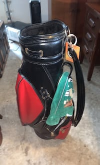 leather wilson golf bag