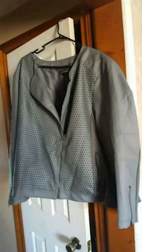 new faux leather jacket size 4x