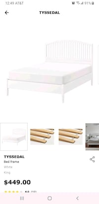 King bed frame from Ikea