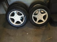 gray 5-spoke car wheel with tire set Montréal, H1H 4T7