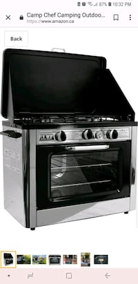 Black and Grey gas range oven Vaughan, L6A 2W5