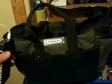 black and gray Stanley tote bag