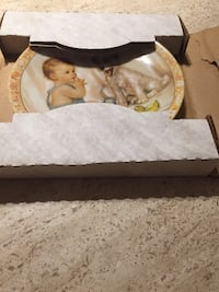 New in box collection decorative plate  534 km