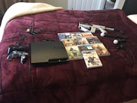 120g PS3 slim psmove bundle with 10 games