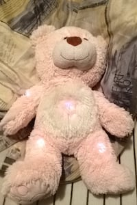 White and brown bear plush toy