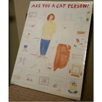 """18x24 Poster """"ARE YOU A CAT PERSON?"""" by Suzy Becker SEALED Zephyrhills"""
