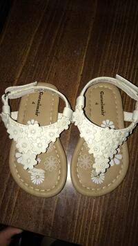 pair of white floral sandals Erie, 16503