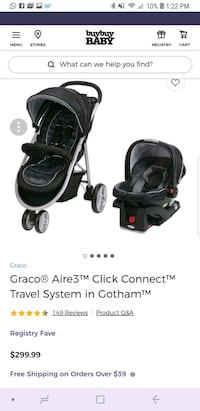 baby's black travel system screenshot Manassas, 20111