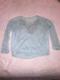 Baby blue sweater (sheer back) size medium Toronto, M1P 5C4
