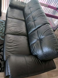 Black leather sofa  Mississauga, L5N 4P5