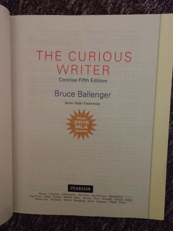 the curious writer brief fifth edition