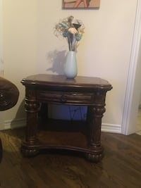 Beautiful Antique Solid Wood Coffee Table with leather Top. Set of 2  Brampton, L6P 3X8