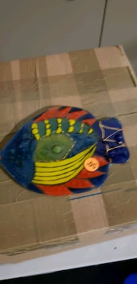 $.50 glass fish trivet Fallbrook, 92028