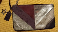 Purple Leather Coach Wristlet