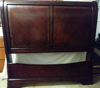 Queen-size sleigh bed frame and entire setup.  Houston, 77084