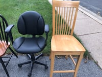 1 Computer Desk Chair & Polished Wooden Chair Rockville, 20850