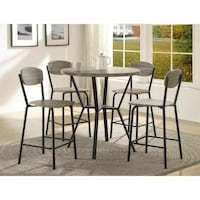 5PC COUNTER HEIGHT DINING TABLE SET BRAND NEW