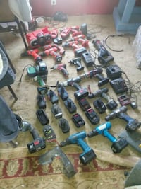 Bunch of cordless tools