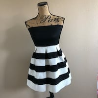 black and white stripe sleeveless dress Tustin, 92780