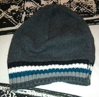 gray black white and blue striped knit cap!!! London, N6J 4E8