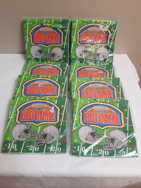 Big Game 8pcs. lot 20ea.dinner napkins.