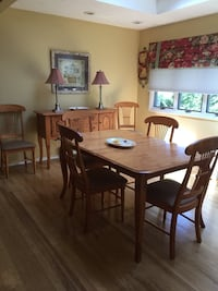 Dining kitchen table with 6 chairs and credenza Nesconset, 11767
