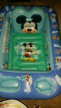 Mickey mouse blow up bath tub