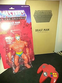 "Master of the Universe Beast Man 12"" New with Box Redding"