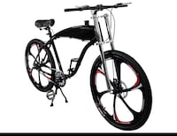 BBR Complete 26 Inch Motor-Ready Motorized Bicycle W/ 2.4L In-Frame Gas Tank (Black) Pasadena, 91107