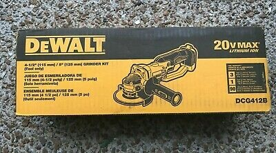 Photo NEW DEWALT 20V MAX CORDLESS 4-1/2 TO 5 INCH GRINDER - TOOL ONLY