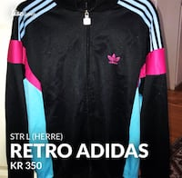 svart og hvit Adidas zip-up jakke