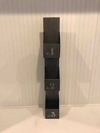 Black and gray home theater speaker system