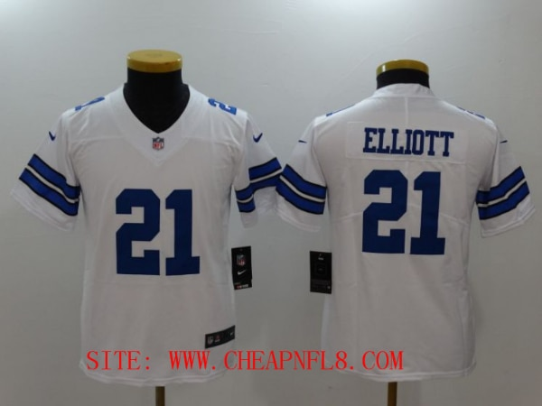 outlet store bc3c0 2e110 Youth Dallas Cowboys 21 Elliott White Nike Vapor Untouchable Limited NFL  Jerseys