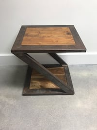 Rustic farmhouse style side table