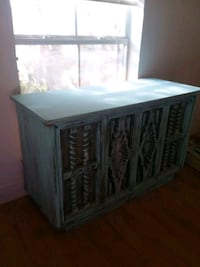 Refinished console with record player, radio and 8-track player Denham Springs